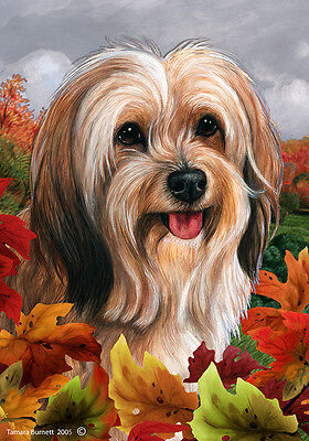 Large Indoor/Outdoor Fall Flag - Sable Tibetan Terrier 13480