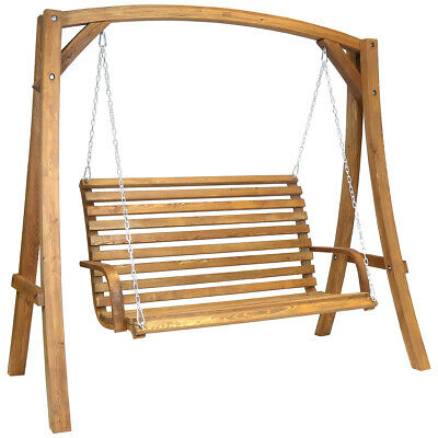 Charles Bentley Garden Wooden Swing Seat