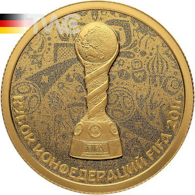FIFA Confederations Cup 2017 Proof Gold Сoin 50 rubles Russia 2017