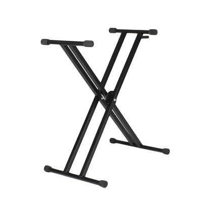 Adjustable Double Braced X Style Keyboard Stand Electronic Piano Organ Rack