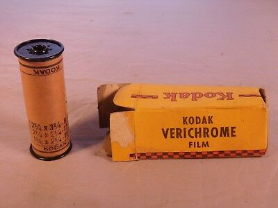 Vintage Kodak Verichrome 120 Film In Box  Expired 1948