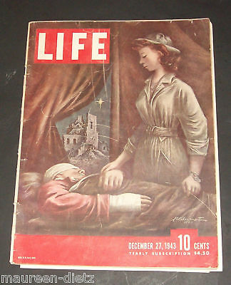 December 27, 1943 LIFE Magazine. War Paintings, WWII advertising. FREE SHIPPING