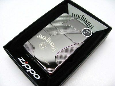 Zippo Full Size Black Ice Jack Daniel's Famous 7 Windproof Lighter 28817
