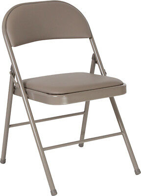 Lot Of 20 Hercules Series Double Braced Gray Vinyl Folding Chair