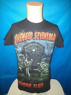 Avenged Sevenfold T-shirt Small presents buried alive Breaking Benjamin