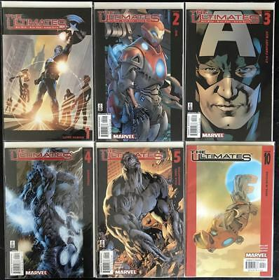 Ultimates (2002) #1 2 3 4 5 10 Lot of 6 Mark Millar Bryan Hitch Marvel Comics
