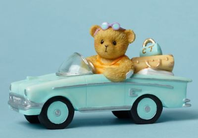 Cherished Teddies Every Mile is a Memory Bear on a Tropical Road Trip Figurine