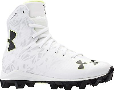 7f0eb76d5 Kid s Under Armour Lax Highlight RM Lacrosse Cleats - White Silver Lime -  NIB