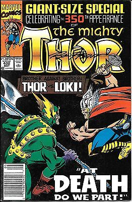 The Mighty Thor #432 Signed by Ron Frenz Newsstand Edition