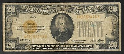 US - 20 Dollar Gold Certificate - Series of 1928 - FINE