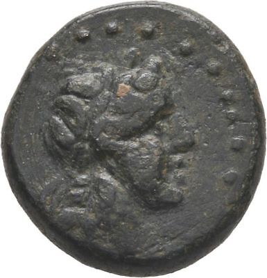 Ancient Greece  3 Cent  BC Troas Alexandria APOLLO HORSE Bronze