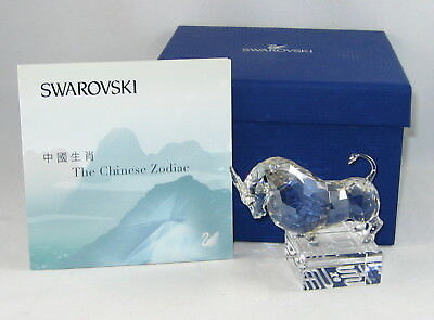 "Swarovski Crystal CHINESE ZODIAC Figurine ""OX"" In Original Box With COA"