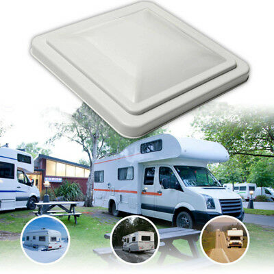 "14""x14"" RV Camper Roof Vents Trailer Motorhome White Cover Lids UV-resistant"