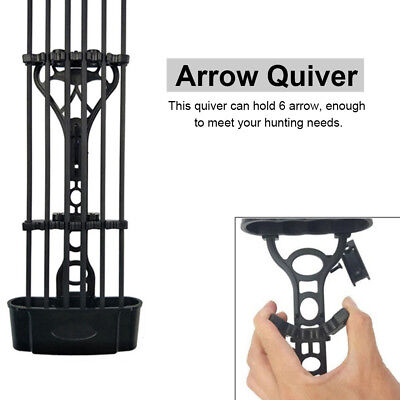 Hunting Archery 6 Arrow Quiver Bow Holder for Compound Bow Shooting W/ Screws CO