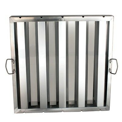 "6 Stainless Steel Commercial Restaurant Hood Grease Filter 20"" x 20"" SLHF2020"