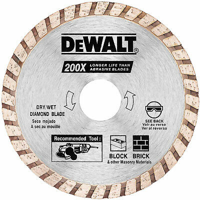 "DeWalt DW4724B 4"" High Performance Diamond Masonry Blade"