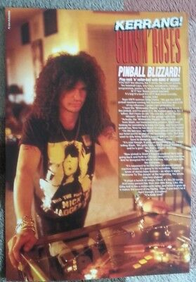 GUNS N' ROSES 'Slash plays pinball' magazine PHOTO/Poster/clipping 11x8 inches