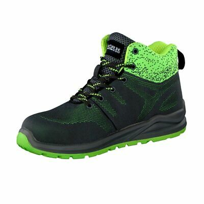 Work2do Safety Boots Sicherheitasschuhe Work Boots S1p, Grey/Green