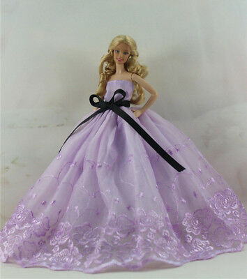 Fashion Handmade Princess Dress Wedding Clothes Gown for Barbie Doll D31