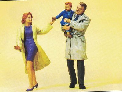 Pair with Child Preiser 63096 Figurines Track I Scale 1:3 2