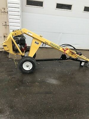 Used Ground Hog HD99-H Hydraulic Drill Auger Towable Post Hole Commercial Duty