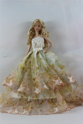 Fashion Handmade Princess Dress Wedding Clothes Gown for Barbie Doll D48