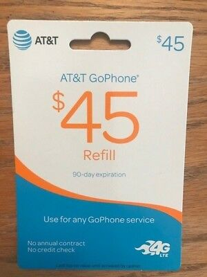 AT&T GoPhone $45 Refill card for PHONE