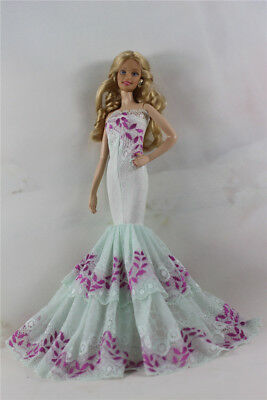 Fashion Handmade Princess Dress Wedding Clothes Gown for Barbie Doll D63