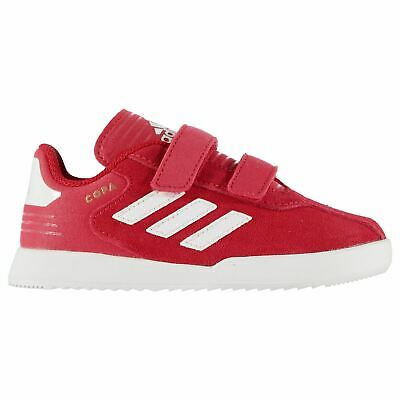 adidas Kids Boys Copa Suede Trainers Infant Padded Ankle Collar Strap Hook and