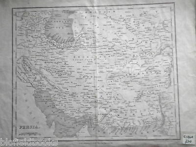 Original Antiquarian Map of Persia: Middle East c1850 Iraq/Irak/Afghanistan