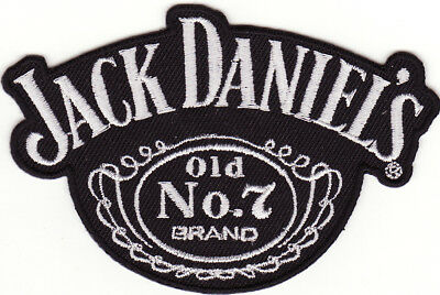 "Jack Daniels 3 1/2"" Old No.7 Brand Tennessee Whiskey Iron On Patch *New*"