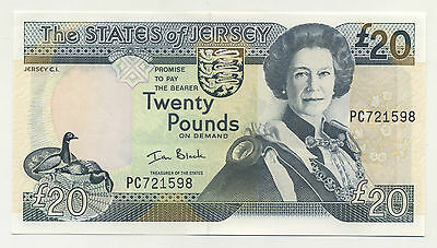 Jersey 20 Pounds ND 2000 Pick 29 UNC UNCIRCULATED Banknote