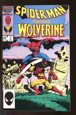 Spider-Man Versus Wolverine #1 Very Fine / Near Mint 1987 Marvel Comics