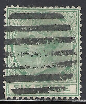 LAGOS SCOTT 11 USED FINE+ - 1876 6p GREEN QUEEN VICTORIA ISSUE