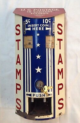 VINTAGE US POSTAGE STAMP VENDING MACHINE Munro Matlock Co. Cleveland OH RAREfind