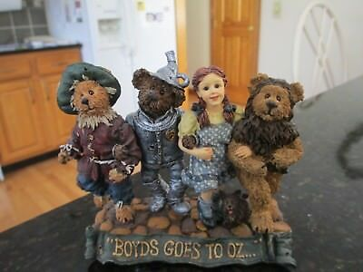 "2000 Wizard of Oz  ""BOYDS GOES TO OZ""  Ltd Edition #3694 Bearstone Coll."