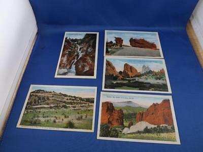 Colorado Postcards Lot 5 Gateway Cave Of Winds East Garden Of Gods Seven Falls