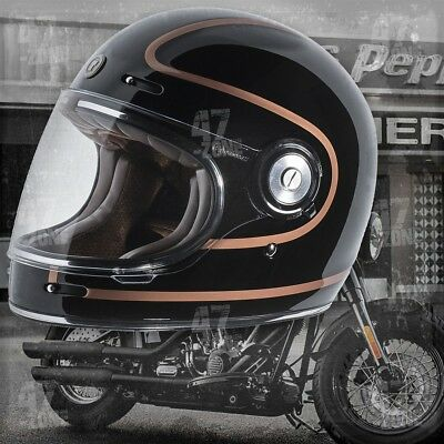 Torc T1 Copper Pin Retro Vintage Style Cafe Bike Motorcycle Full Face Helmet