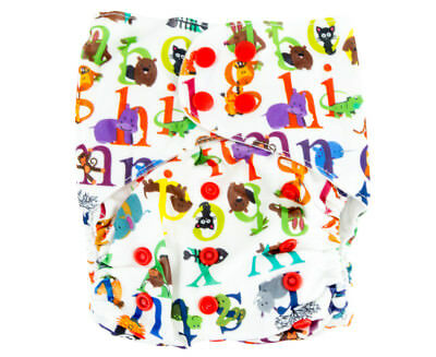 Absolutely Baby All-In-Two Snap Nappy - Alphabet