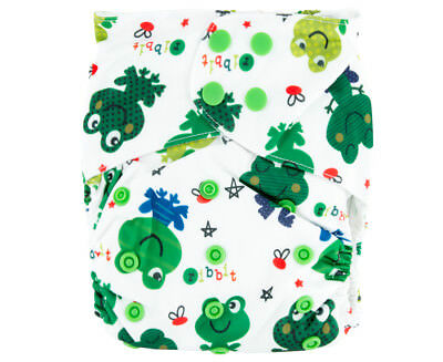 Absolutely Baby All In Two Snap Nappy - Frog