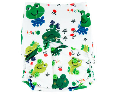 Absolutely Baby All-In-Two Velcro Nappy - Frog