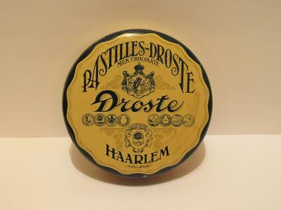 Dutch Droste Milk Chocolate Tin Haarlem Holland Pastilles-Droste Candy Can
