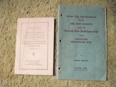 Two Vtg. Books Re: Servicing Gas Appliances Pub. in 1946 & 1947, Stored Cond.