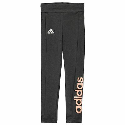 adidas Kids Girls Essentials Linear Tights Junior Pants Trousers