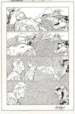 Signed Kevin Maguire Original Art Page X-Men Forever #6 ~ Jean Grey The Stranger
