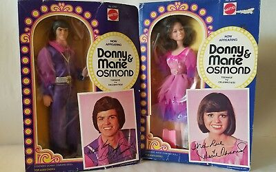 DONNY AND MARIE OSMOND DOLLS  MATTEL Rare New in Boxes