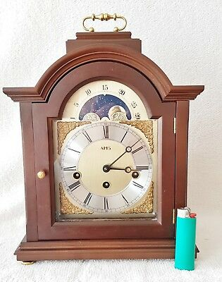Westminster Mantel Clock Quarter Chime 8 Day AMS Moonphase German