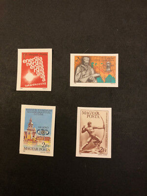 Hungary Scott No. 2840,2841,2850,2858 MNH Imperforate Imperf Imp Stamps of 1984