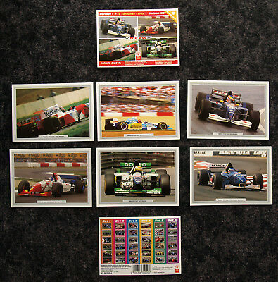 FORMEL 1 SAISON '95 TOP ASS SAMMELSET 4 - 6 COLLECTION CARDS 10x15 CM - OVP RAR