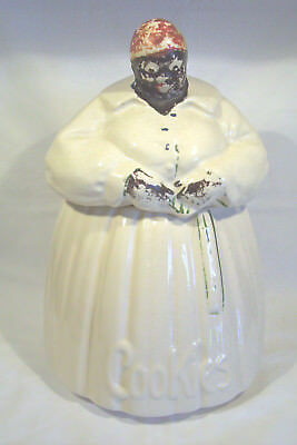 VTG 1940s ORIGINAL MCCOY AUNT JEMIMA COOKIE JAR -BLACK AMERICANA